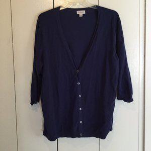 Avenue Blue V-NECK ❤️ Cardigan size 26/28